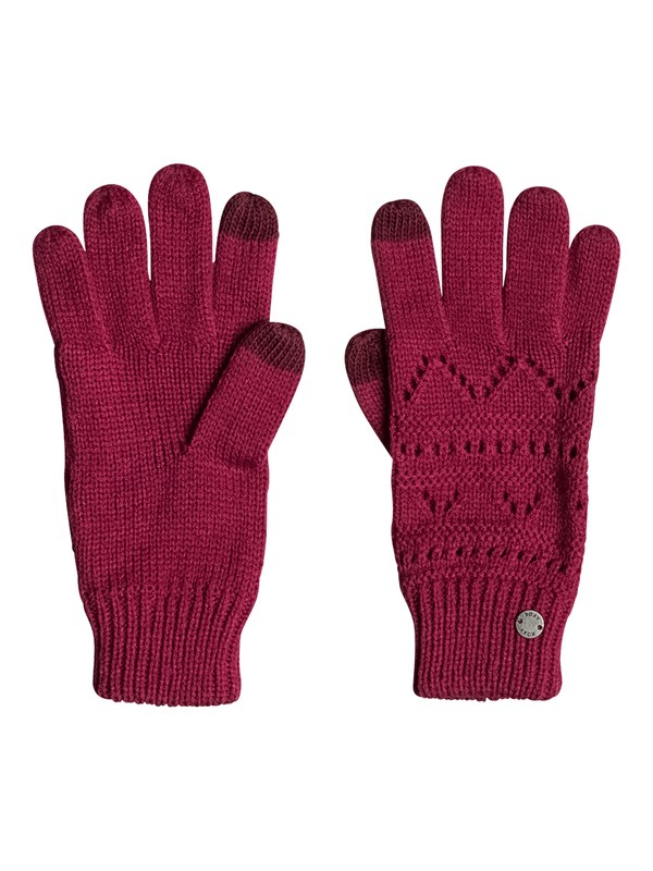 0 Girl Challenge - Knitted Gloves for Women  ERJHN03086 Roxy