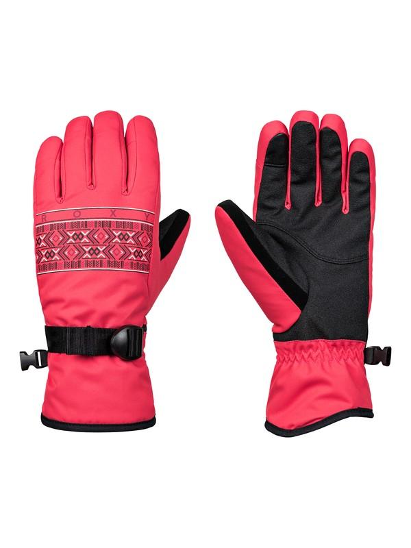 0 Freshfield - Ski/Snowboard Gloves for Women Pink ERJHN03099 Roxy