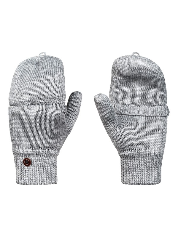 0 Frozen Jaya - Knitted Mittens Grey ERJHN03115 Roxy