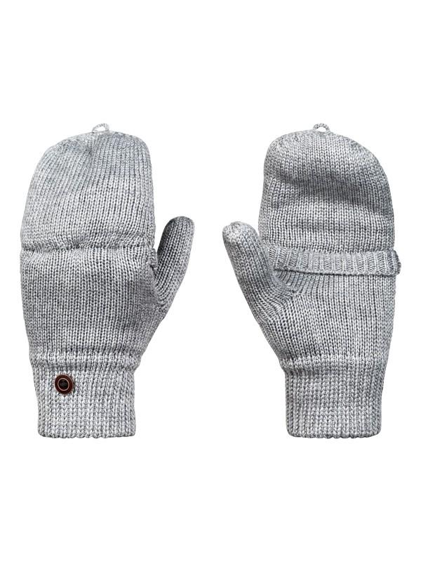 0 Frozen Jaya Knitted Mittens Grey ERJHN03115 Roxy