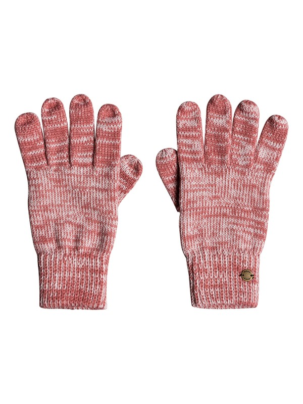 0 Let It Snow - Knitted Gloves for Women Pink ERJHN03120 Roxy