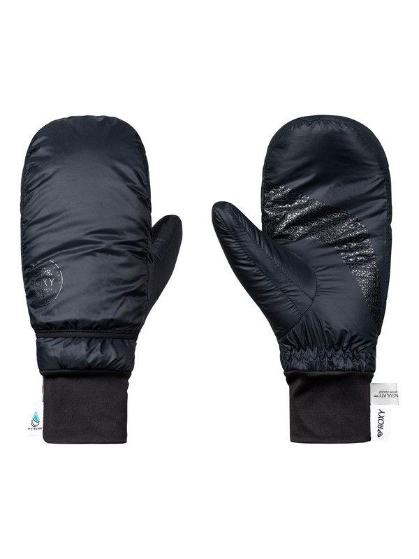 0 ROXY Packable Snowboard/Ski Mittens Black ERJHN03121 Roxy
