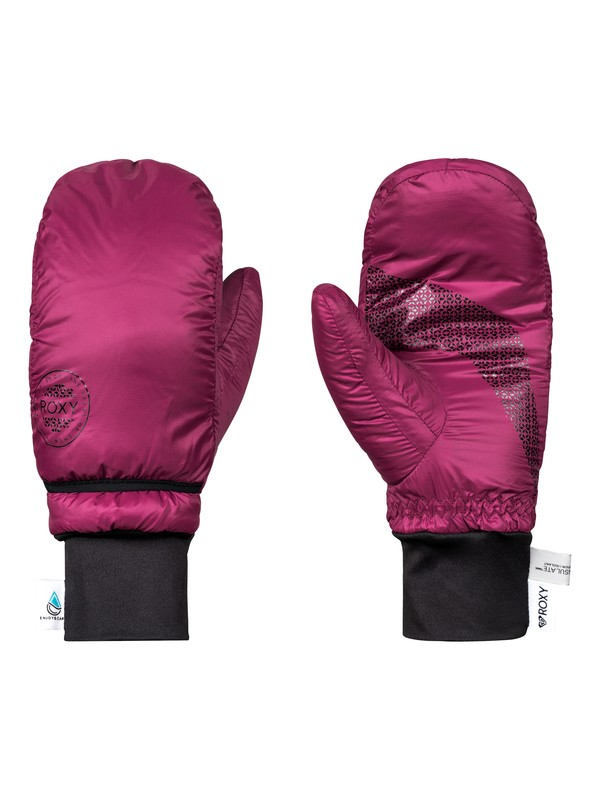 0 ROXY Packable - Ski/Snowboard Mittens for Women Red ERJHN03121 Roxy