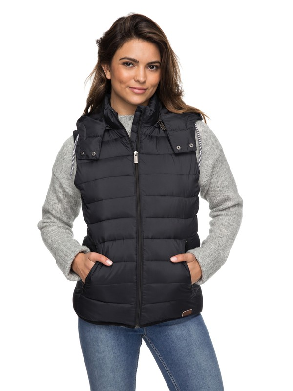 0 Free Innuit - Hooded Puffer Body Warmer  ERJJK03135 Roxy