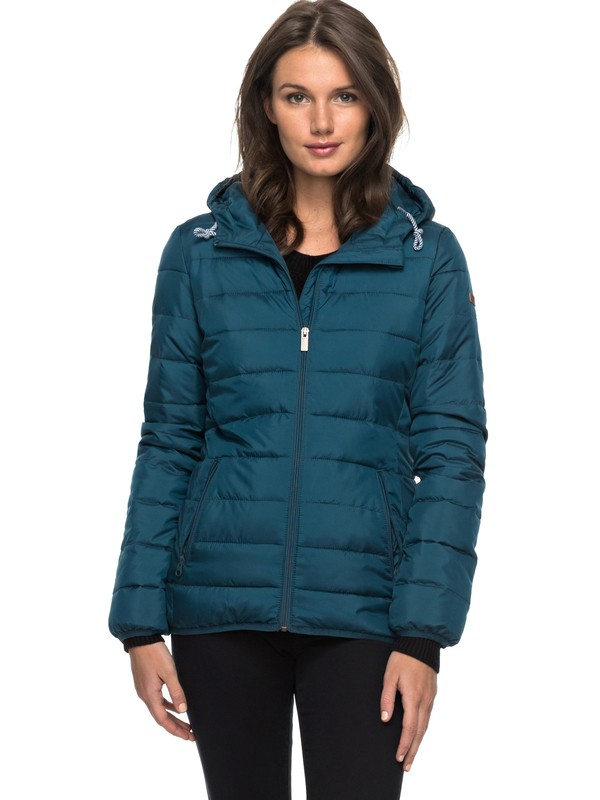 0 Forever Freely - Insulator Hooded Jacket for Women Blue ERJJK03158 Roxy