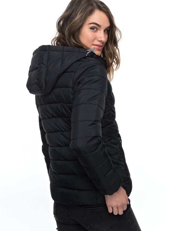 0 Forever Freely Puffer Jacket Black ERJJK03158 Roxy