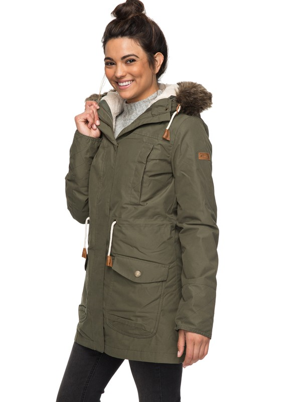 0 Amy Waterproof Parka Jacket  ERJJK03184 Roxy