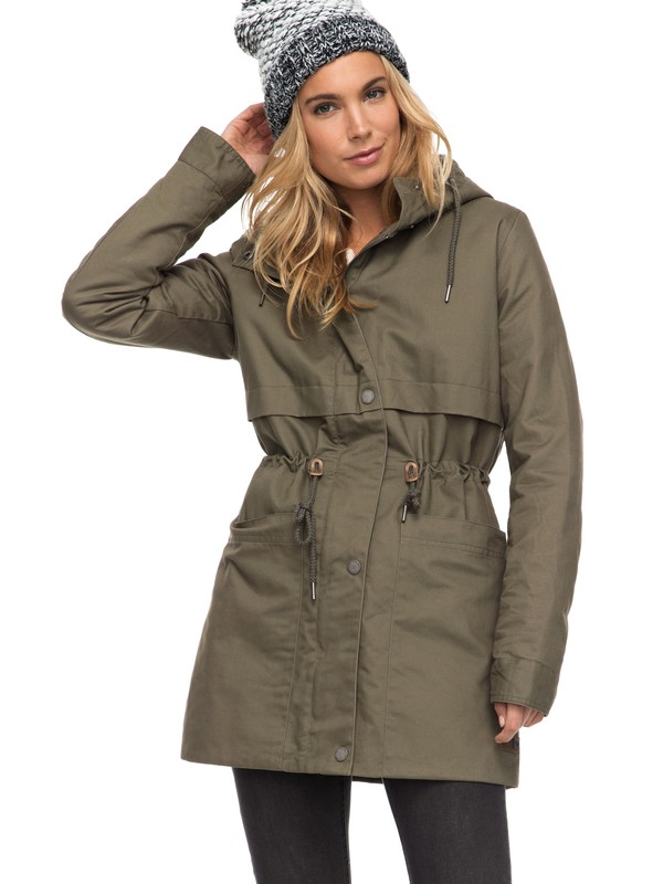 0 Sea Dance - Waterafstotende Parka Green ERJJK03199 Roxy