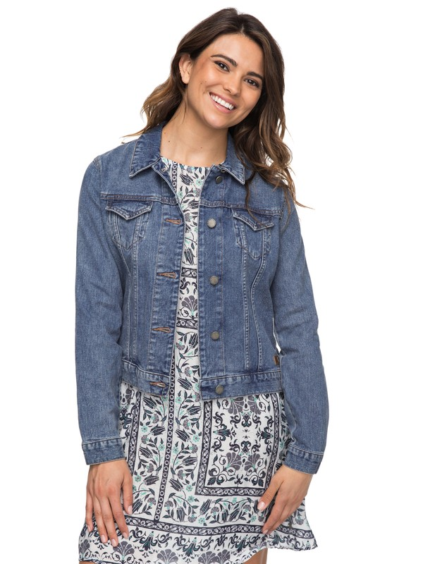 0 Pretty Buoy Denim Jacket  ERJJK03214 Roxy
