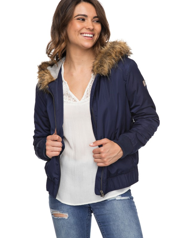 0 Oh Reely Hooded Bomber Jacket  ERJJK03217 Roxy