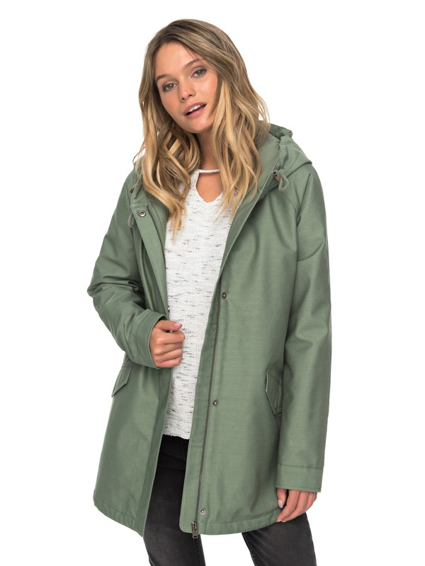 0 Sunny Fly Away - Hooded Jacket for Women Green ERJJK03221 Roxy