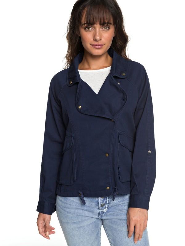 0 Perfect Spot - Military Jacket for Women Blue ERJJK03225 Roxy