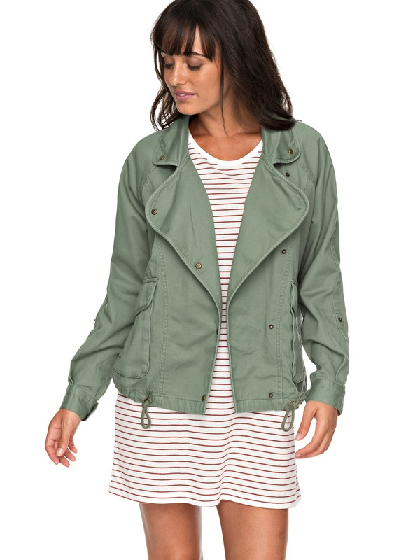 0 Perfect Spot - Military Jacket Green ERJJK03225 Roxy