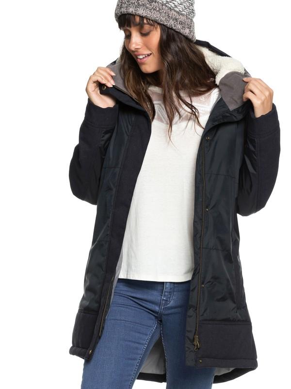 0 Sofia - Veste longue imperméable pour Femme Noir ERJJK03237 Roxy