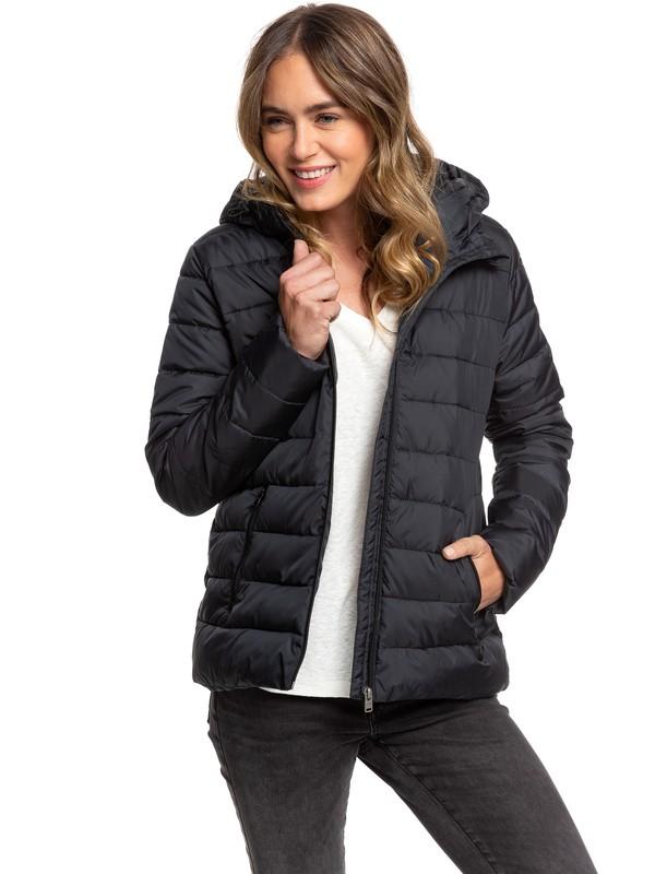 0 Rock Peak - Water Repellent Padded Jacket for Women Black ERJJK03250 Roxy