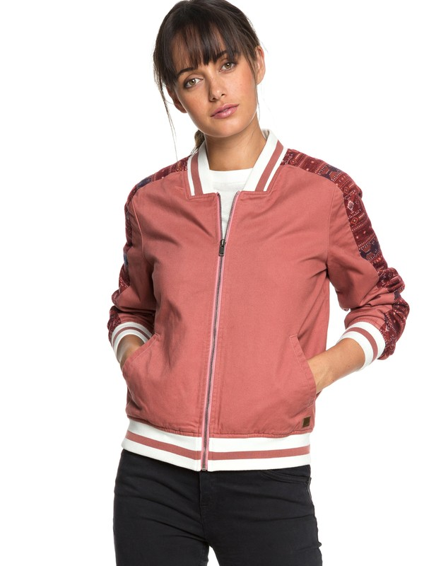 0 Free And Wild - Bomber Jacket for Women Pink ERJJK03261 Roxy