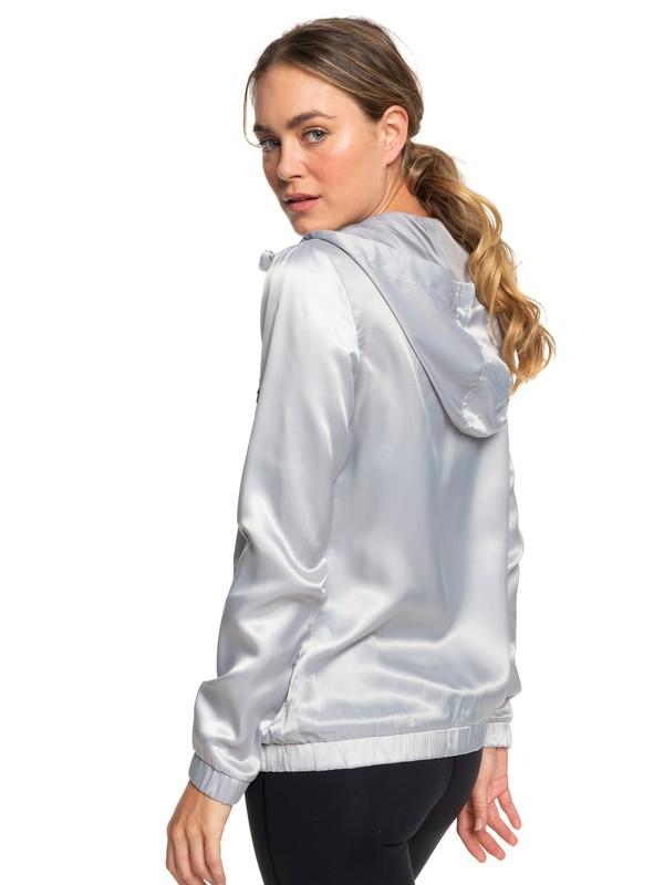 0 Freaky Styley - Veste de running à capuche pour Femme Gris ERJJK03273 Roxy