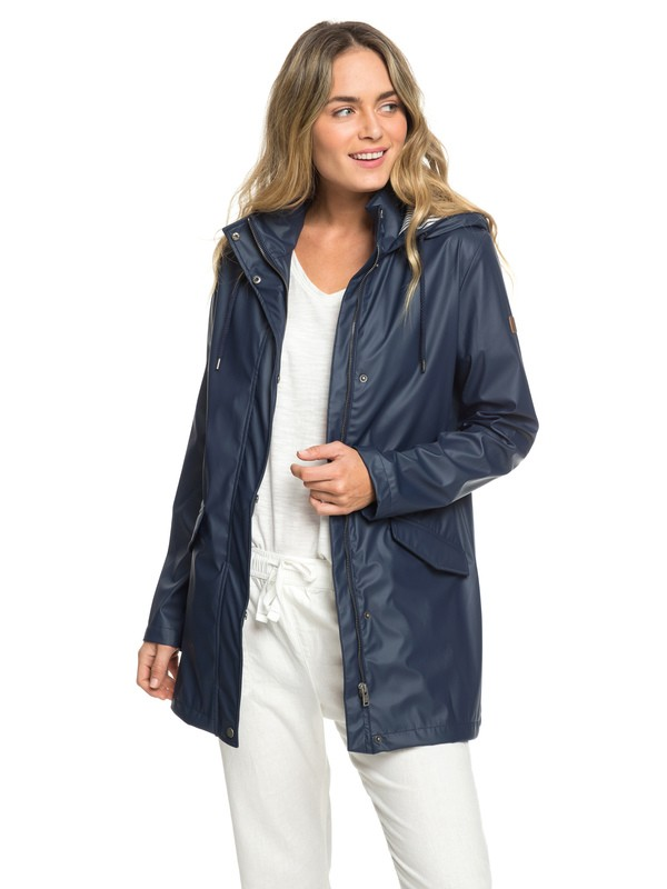 0 Early Morning - Waterafstotende Regenjas voor Dames Blue ERJJK03277 Roxy