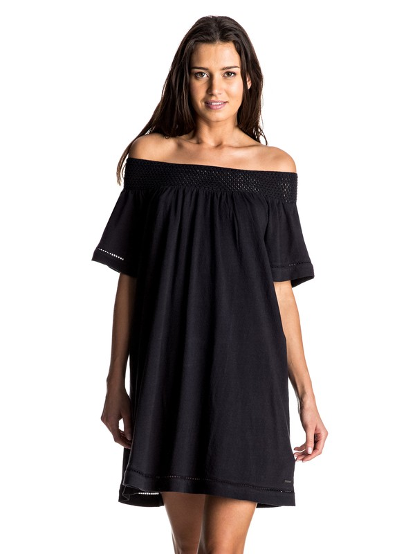 0 Moonlight Shadows Cold Shoulder Dress  ERJKD03095 Roxy