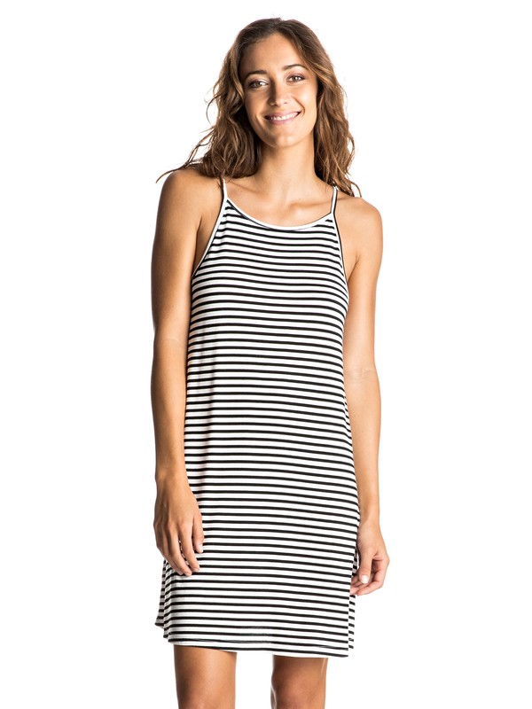 0 I Did Didn't Stripe Dress  ERJKD03126 Roxy