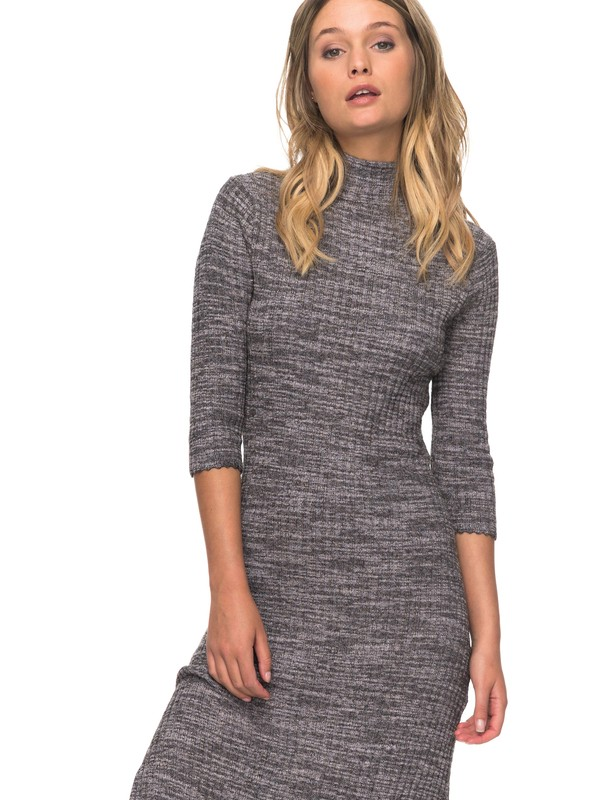 0 Hello Fall Midi Turtleneck Dress  ERJKD03155 Roxy