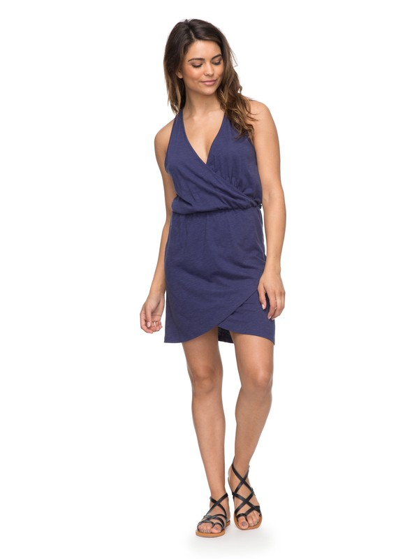0 Ocean Skyline - Wrap Dress for Women Blue ERJKD03159 Roxy