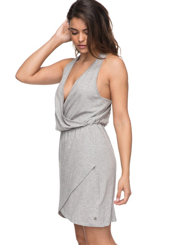 0 Ocean Skyline - Wickelkleid für Frauen Grau ERJKD03159 Roxy
