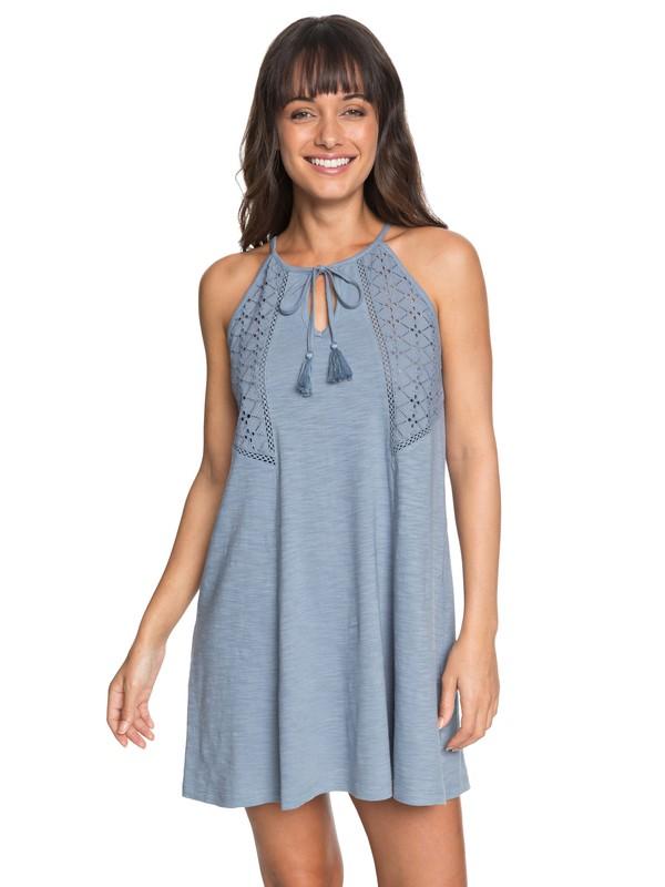 0 Enchanted Island Strappy Dress Blue ERJKD03164 Roxy
