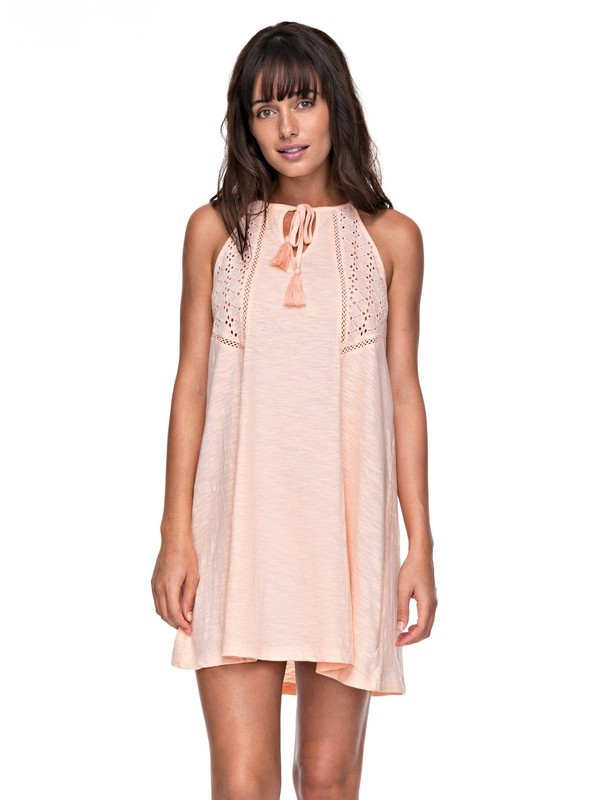 0 Enchanted Island - Riemchenkleid für Frauen Rosa ERJKD03164 Roxy