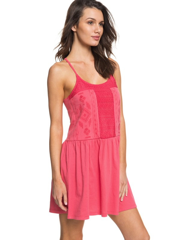 0 White Beaches - Strappy Dress Pink ERJKD03167 Roxy