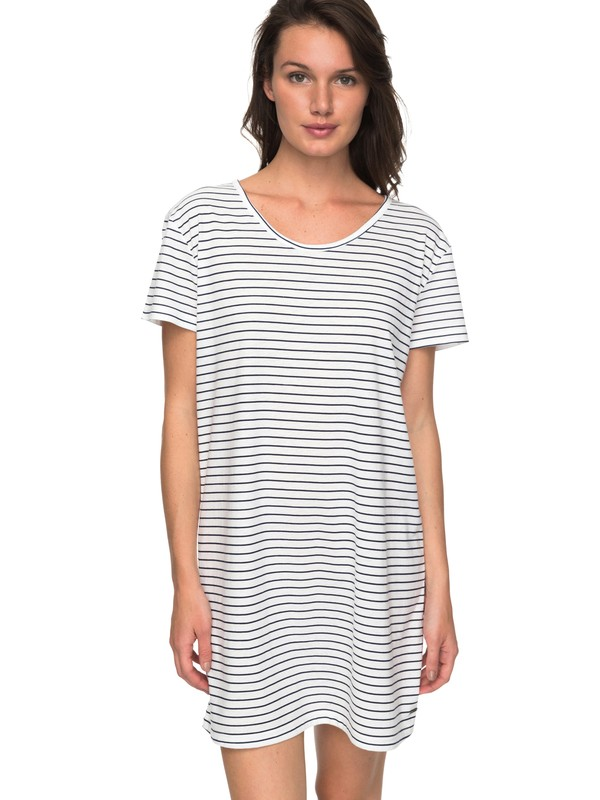0 Just Simple Stripe - T-Shirt Dress for Women Blue ERJKD03172 Roxy