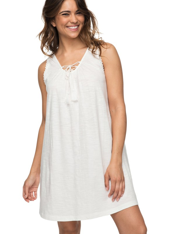 0 Aguila Tank Dress White ERJKD03181 Roxy