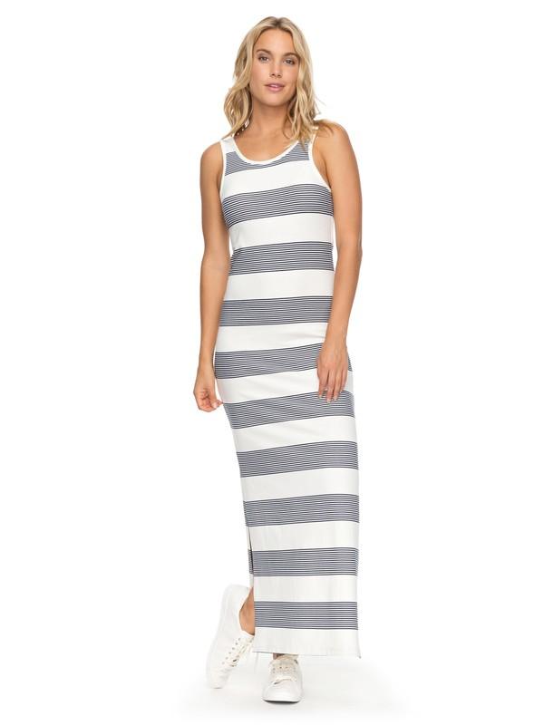 0 Tuba Stripes Maxi Vest Dress White ERJKD03194 Roxy