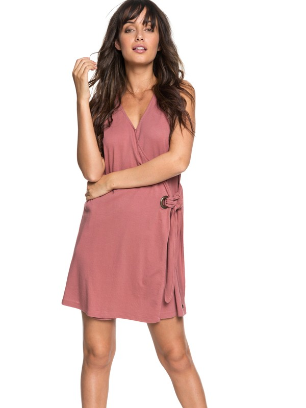 0 Rhythm Of Luck Sleeveless Dress Pink ERJKD03207 Roxy
