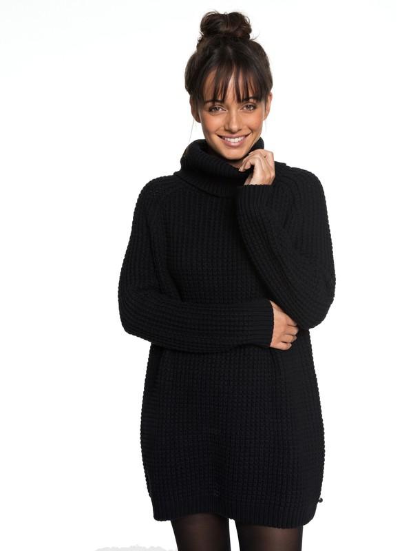0 Bubbles Story - Robe à manches longues col roulé pour Femme Noir ERJKD03212 Roxy