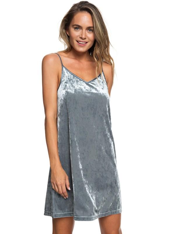 0 Sleepy Night Strappy Velvet Dress Black ERJKD03226 Roxy