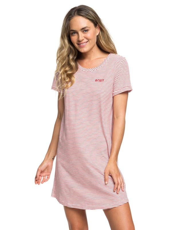 0 Love Sun - Robe t-shirt manches courtes pour Femme Rouge ERJKD03232 Roxy