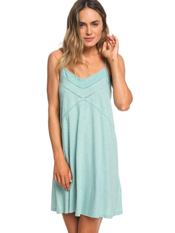 0 New Lease Of Life - Robe de plage à bretelles pour Femme Bleu ERJKD03236 Roxy