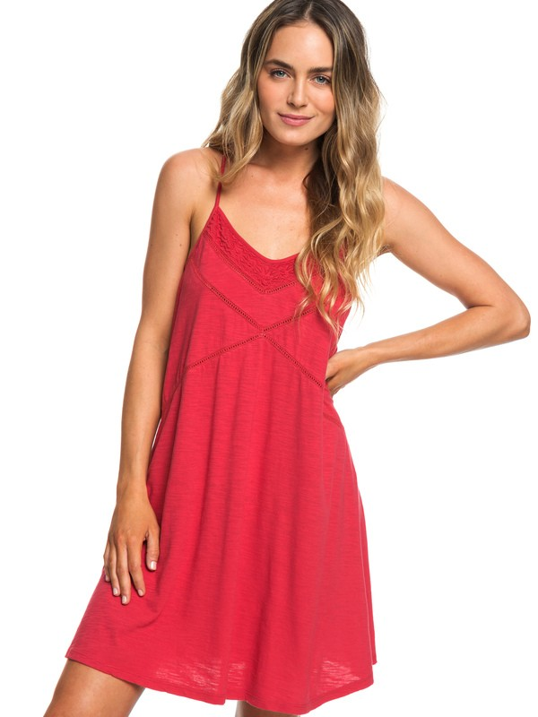 0 New Lease Of Life Strappy Beach Dress Red ERJKD03236 Roxy
