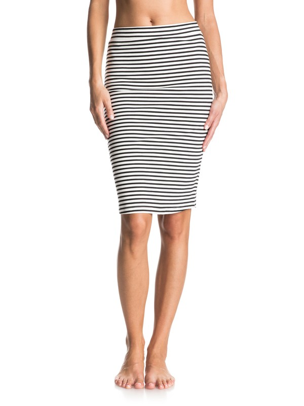0 Call Up In Dreams Stripe Midi Bodycon Skirt  ERJKK03016 Roxy