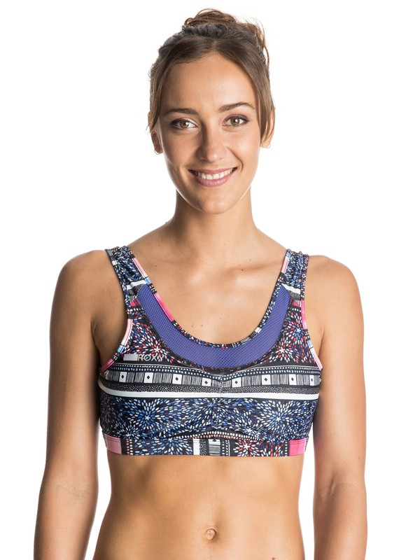 0 Lemonee Printed Sports Bra  ERJKT03164 Roxy