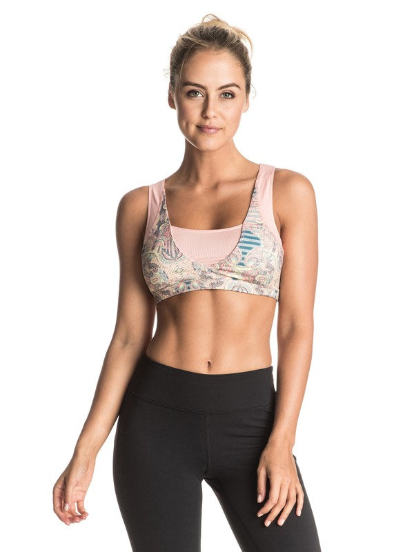 0 Ashtani Printed Sports Bra  ERJKT03246 Roxy
