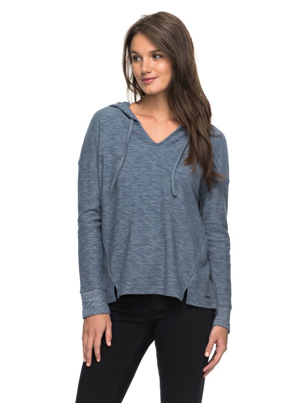 0 Wanted And Wild Long Sleeve Hooded Top  ERJKT03288 Roxy