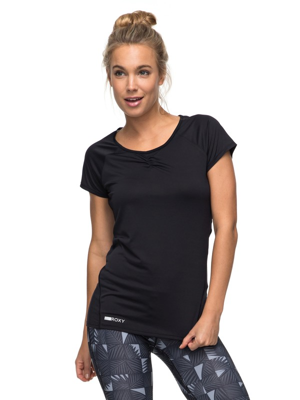 0 Wild Soul - Funktionelles T-Shirt Schwarz ERJKT03295 Roxy