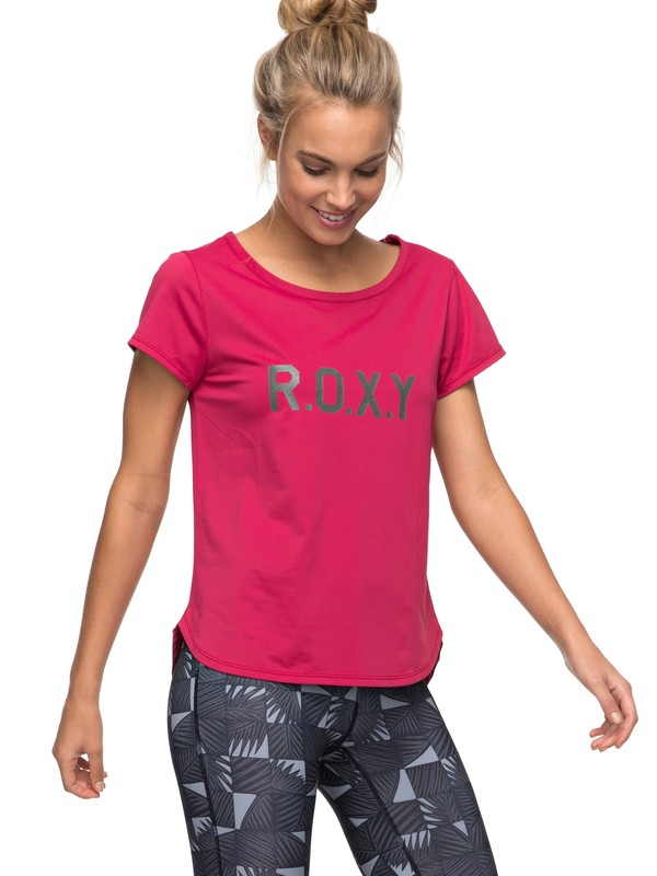 0 Shiny Way - Funktionelles T-Shirt Rosa ERJKT03297 Roxy