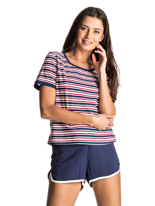 0 Call The Sun Stripes Tee  ERJKT03326 Roxy