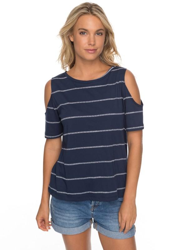 0 Uptown Sun - Camiseta con Hombros Caídos para Mujer Azul ERJKT03358 Roxy