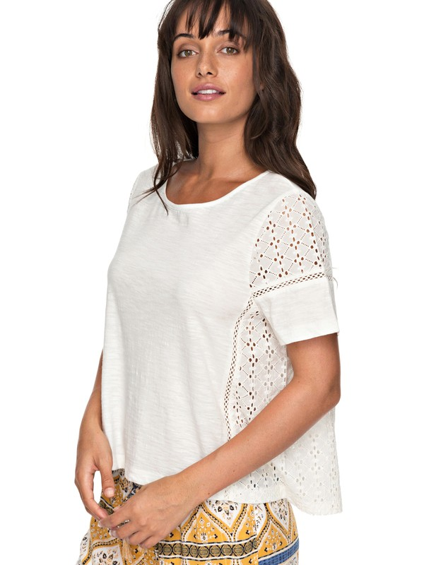 0 Feelin Moody - Short Sleeve Top for Women White ERJKT03359 Roxy