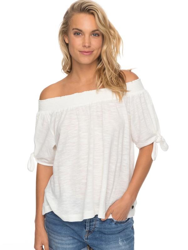 0 Carribean Mood - Haut épaules dénudées pour Femme Blanc ERJKT03360 Roxy