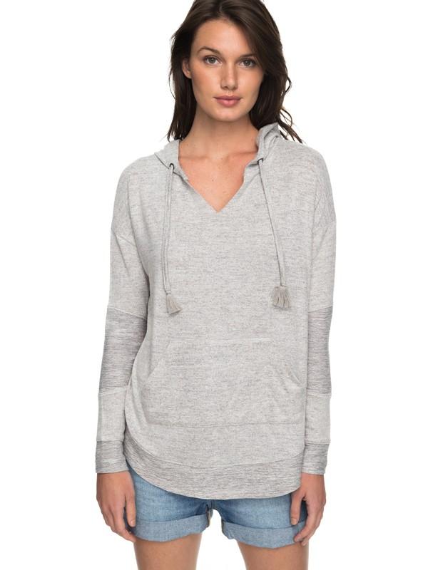 0 Cozy Chill Long Sleeve Hooded Lounge Top Grey ERJKT03408 Roxy
